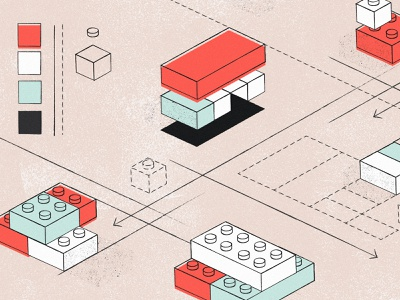 How to get buy-in for building a design system blog abstract bricks lego planning illustration design system