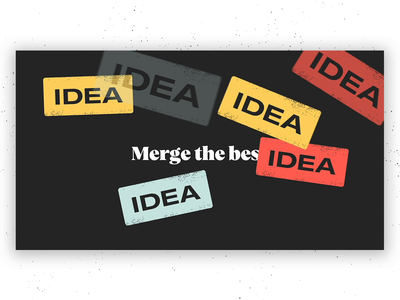Merge your best work animation promo video product design abstract branch git merge