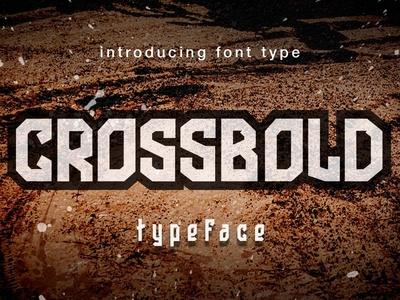 Crossbold font Display for sale