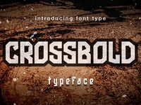 Crossbold font Display for sale