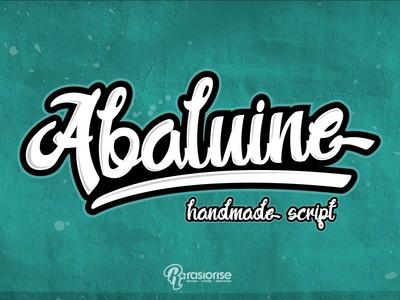 Abaluine handmade script