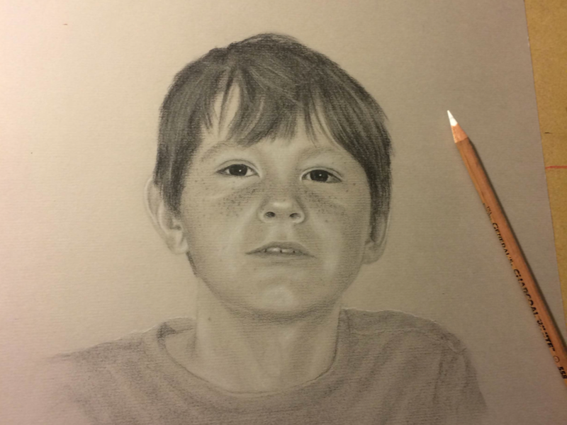 Harvey portrait charcoal