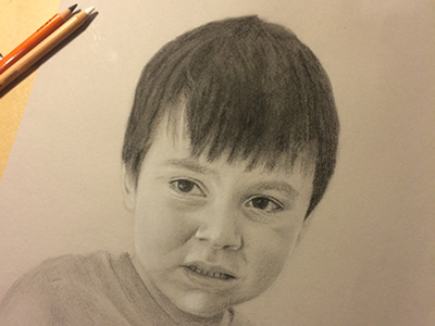 Ged portrait charcoal