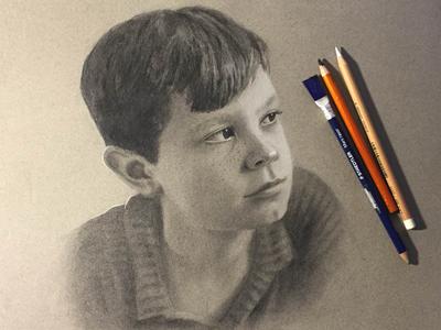 Harvey charcoal portrait