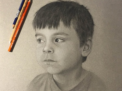 Ged mid-tone portrait charcoal