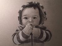 Harrison charcoal portrait
