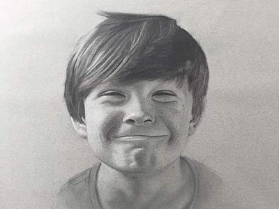 Harvey III charcoal portrait