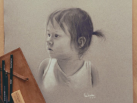 Isla charcoal portrait
