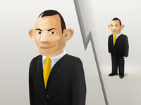 Tony Abbott caricature