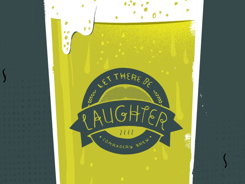 Laughter glass