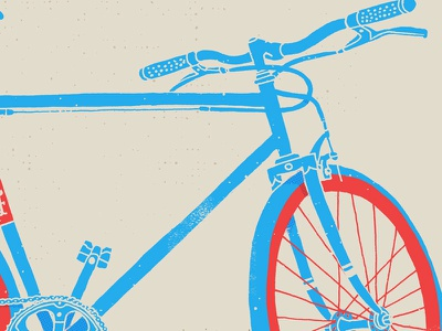 Getting my fixie fix texture grunge illustration drawing bicycle fixie