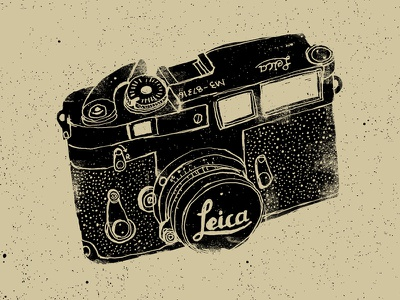 Leica M3 lobsterboy illustration hand lettering drawing grunge texture camera leica m3 black