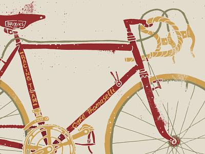 Café Thomaselli Racing Team bike bicycle illustration grunge texture café thomaselli