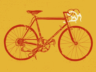 Cafe Thomaselli take 2 bicycle illustration grunge texture café thomaselli