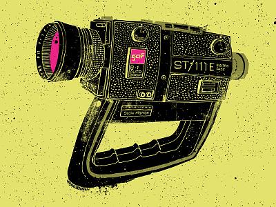 gaf Super8 camera gaf super8 drawing illustration vintage texture grunge