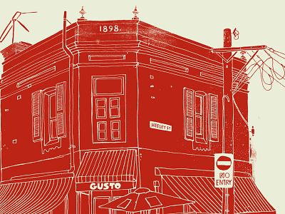 Paddington illustration sydney gusto grunge paddington drawing australia