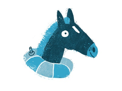 Fish Horse fish nautical horse texture grunge drawing illustration