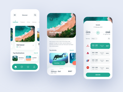 Travel Booking Mobile Apps app booking vacancy green minimalism modern uidesign clean mobile apps ios mobile ux uiux ui travel app travelling travel icon trip