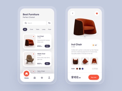 Furniture Shop Mobile Apps typography minimalist interior shopping app shopping shop ecommerce clean mobile design ux  ui uiux uxui mobile ui apps mobile furniture