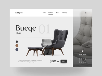Website Furniture Shop Landing Page Header motion webdesign ecommerce shop furniture white minimalist clean uiux ux ui landingpage landing animations website design website