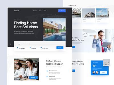 Kelond - Home Service Solution Landing Page design ui landingpage website uxui modern clean blue service home landing page webdesign web landing ui design ux uiux