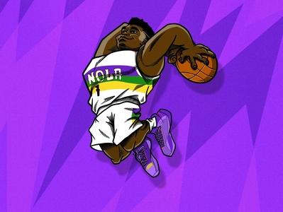 Zion Williamson new orleans nike brand jordan pels design sports illustration basketball pelicans nba nola williamson zion