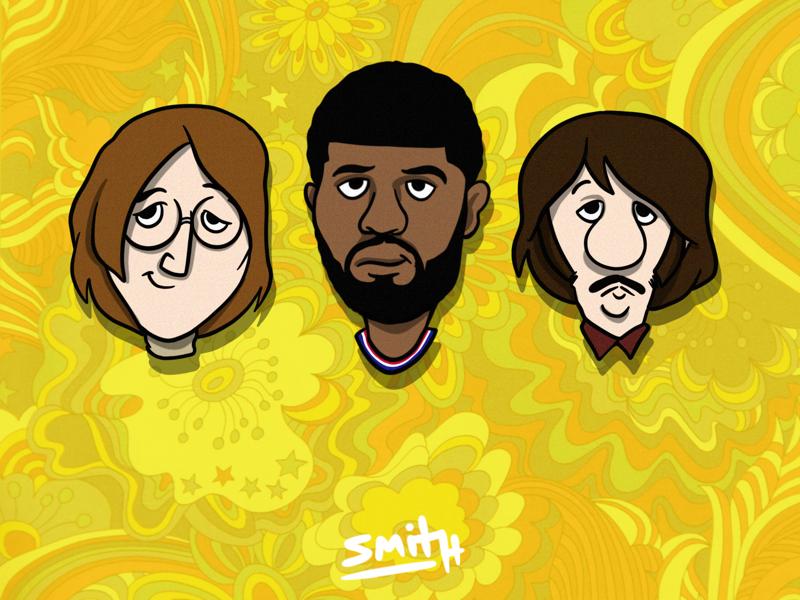 John, Paul George, and Ringo lebron lakers la los angeles basketball pun the beatles beatles nba clippers paul george ringo george paul john