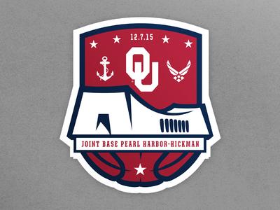 OU Men's Basketball Peral Harbor Game Logo sports design sooners oklahoma logo game harbor peral basketball mens ou