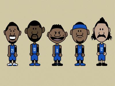 Thunder Lineup Shirt okc illustration nba basketball westbrook lineup thunder oklahoma city