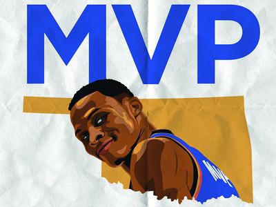 Triple Double Russ design sports illustration basketball okc oklahoma city thunder cole smith cole westbrook russ triple double