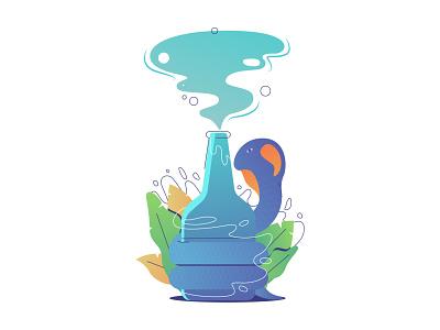 Drunken Cobra minimal illustrator icon logo branding digital vector flat design illustration