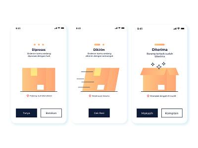 Shipping UI vector branding ux illustrator app minimal icon ui digital illustration design