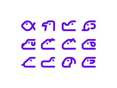 Minimal Animal Icon web animation icon logo minimal app ui ux illustration design
