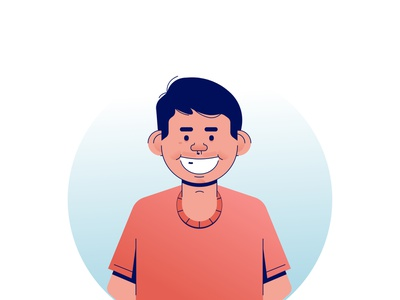 Hallo.. I am heru avatar profile face flat vector digital design illustration
