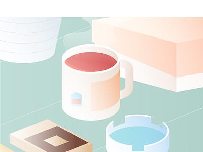 Daily Energy minimal flat vector digital design illustration
