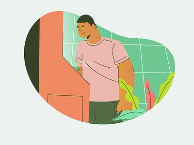 ding minimal flat vector digital design illustration