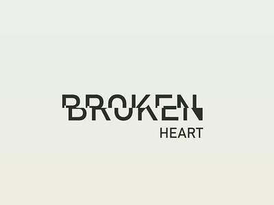 Broken heart broken logo branding