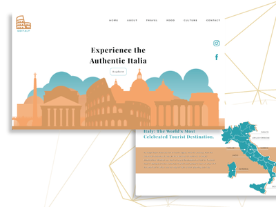 Tourism Website - Central Italy ui development ui design