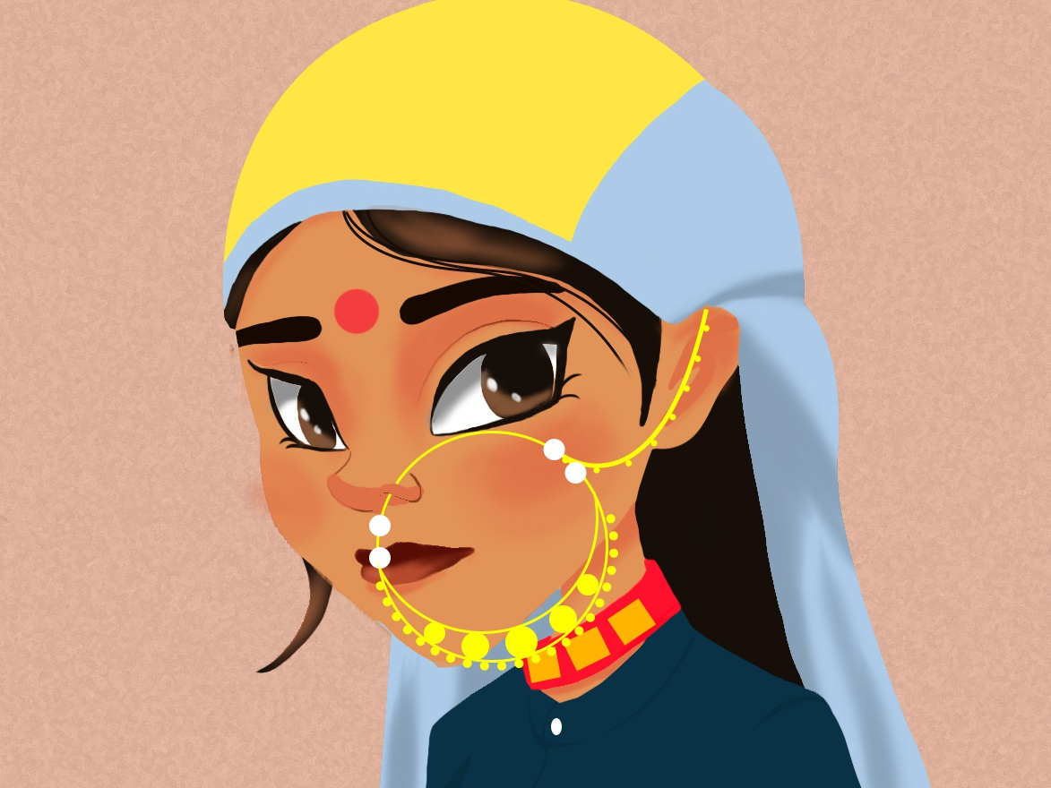 Garhwali girl character concept character creation
