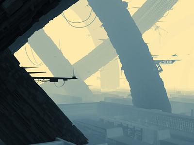 Practice work sci-fi sciencefiction digitalart game art illustration digitalartist environmental design concept art