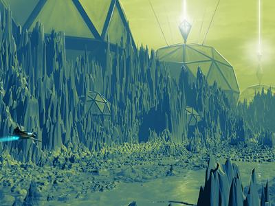 Practice work game art environmental design sci-fi sciencefiction digitalartist illustration digitalart concept art