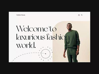 Ecommerce Website web animation ui animation landingpage uidesign ecommerce website ecommerce minimal web typography app ux ui logo icon art design