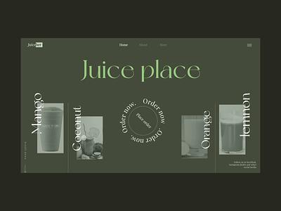 Juice Brand Website Design popular premiere pro photoshop figma after effects ecommerce website website animation ui ux design