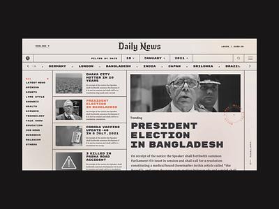 News Paper Web Concept Design dashboard web motion graphics animation popular ui ux typography design