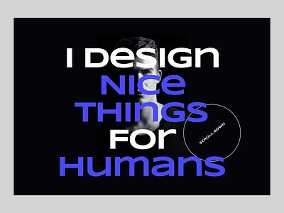 Personal Portfolio Website interaction design muzli flat web website personal website branding animation art 3d design typography ui animation landing page 3d design ui ux