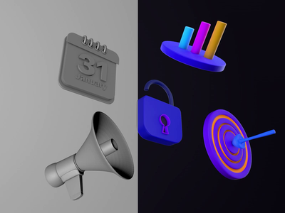 3D Icon Design after effects cinema 4d 3d icon design icon animation icon design 3d design 3d icon animation logo icon 3d art design