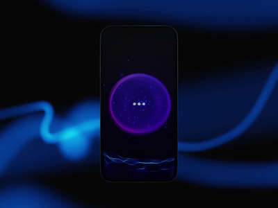 AI Voice Assistant Visualization ai animation voice search voice voice spectrum voice assistant ai visualization os ar future technology artificial intelligence ux design motion graphics animation ui ai