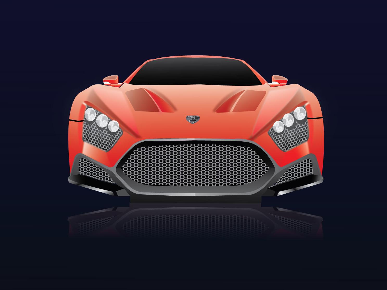 Car Illustration Practice (V3) gadget car design design ux lamborghini vector ui art illustration car