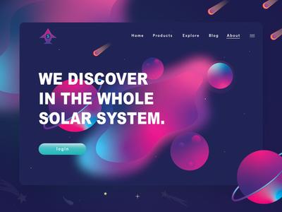 Solar System Header Illustration