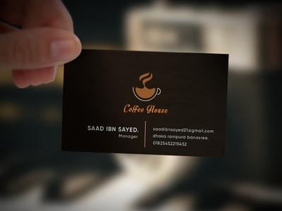coffee house business card.